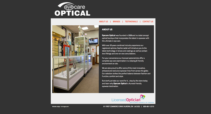 Eyecare Optical site